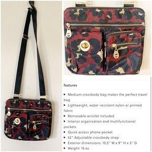 Bagallini Scarlet Cheetah Melbourne crossbody bag